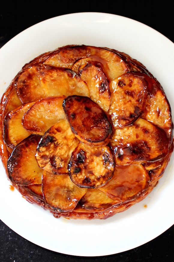 Caramelized Upside-Down French Sweet Potato Pie {Tarte Tatin}