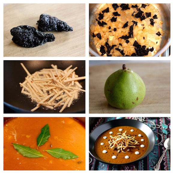 Sultry Pumpkin, Ancho Chile, Pear Soup Recipe