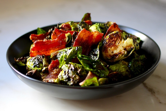 Roasted Brussels Sprouts, Bacon Shards, 18-Year Balsamic Vinegar of Modena