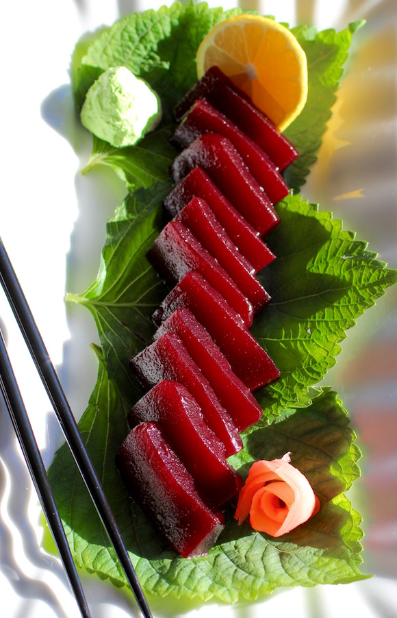 Thanksgiving Cranberry Jelly Sashimi
