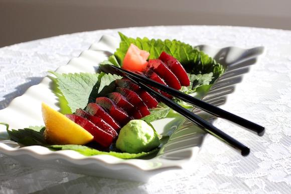 "Thanksgiving Cranberry ""Sashimi"""