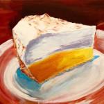 lemon meringue pie painting by Lori Lynn