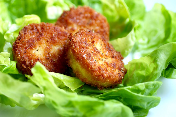 Fried Goat Cheese in Butter Lettuce Cups