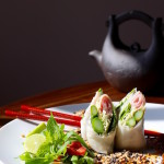 Modern Asparagus Spring Rolls - Red Chili, Black Sesame, Almond