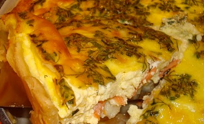Salmon & Goat Cheese Quiche