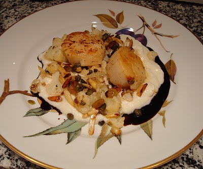 Scallops, Cauliflower Cream, Balsamic Reduction - Taste With The Eyes ...