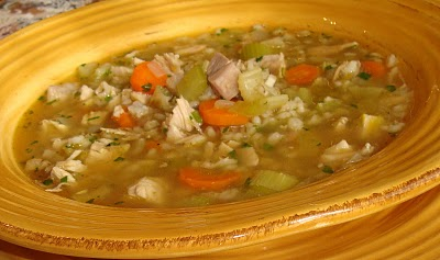 Roasted Turkey Barley Soup - Taste With The Eyes Taste With The Eyes ...
