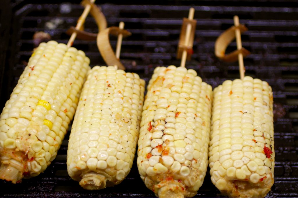 Corn-On-A-Stick with Sweet Chili Butter