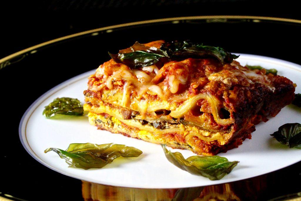 Lasagne - Summer Squash, Italian Sausage, Fried Basil #glutenfree