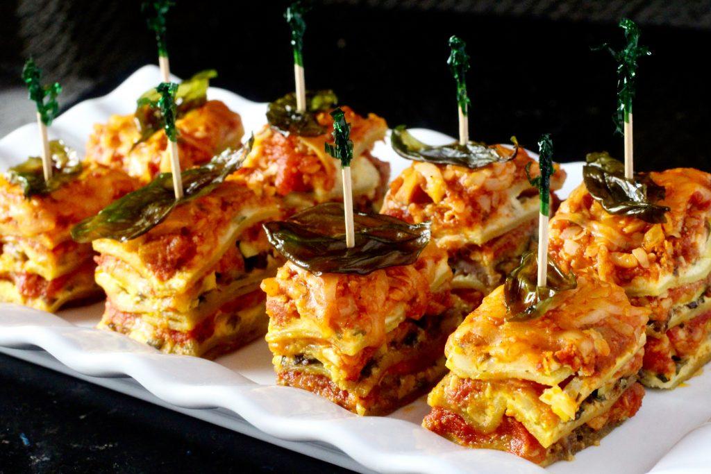 Summer Squash Lasagna with Fried Basil #glutenfree