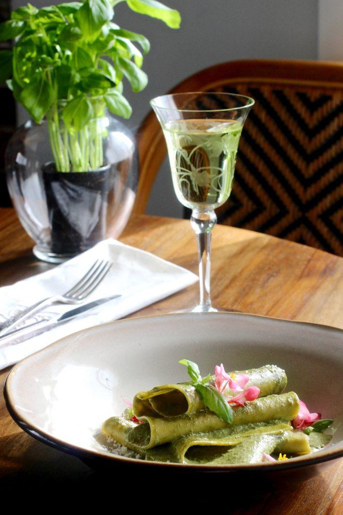 Mandilli di Seta al Pesto (Handkerchief Pasta) #glutenfree