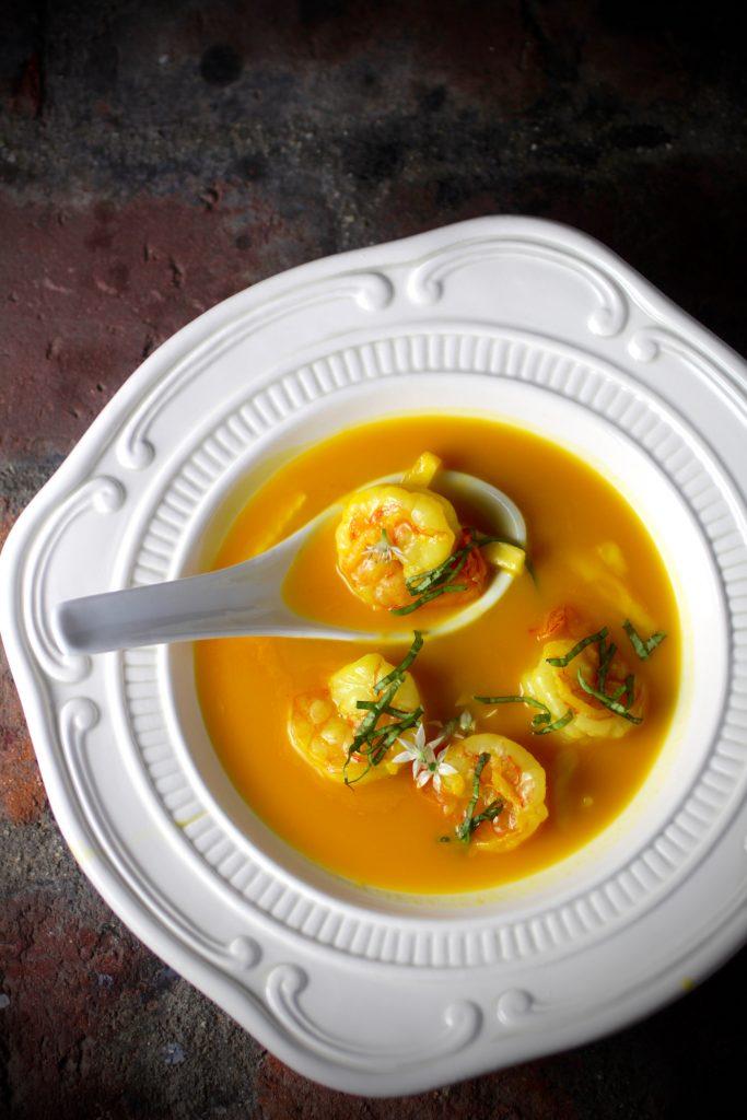 Michel Richard's Asian Bistro Soup with Shrimp