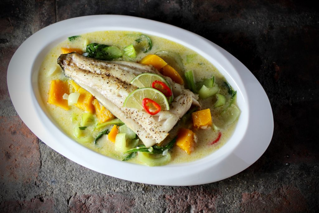 Roasted Sablefish, Butternut and Bok Choy Curry