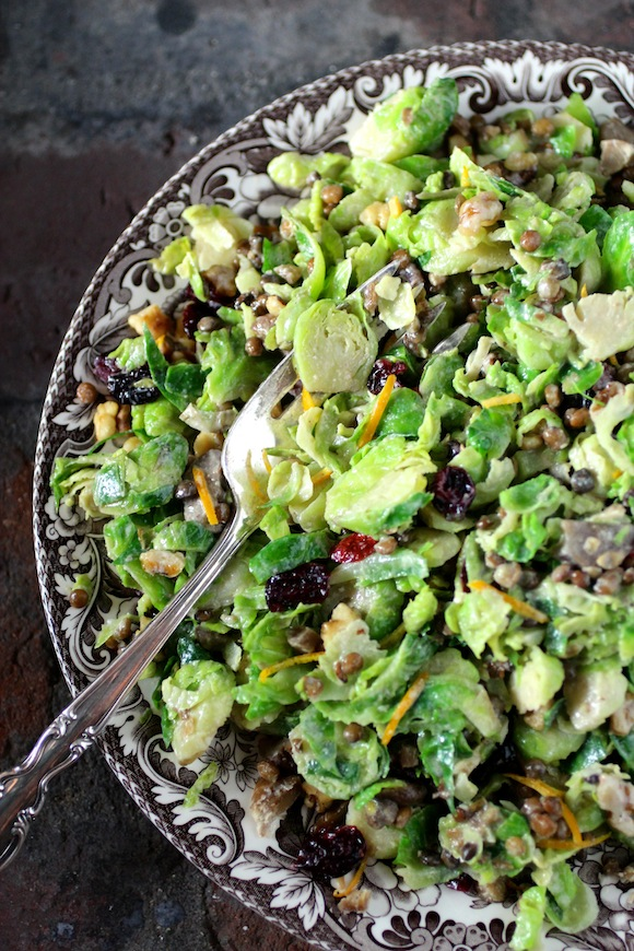 California-Style Shaved Brussels Sprouts Salad