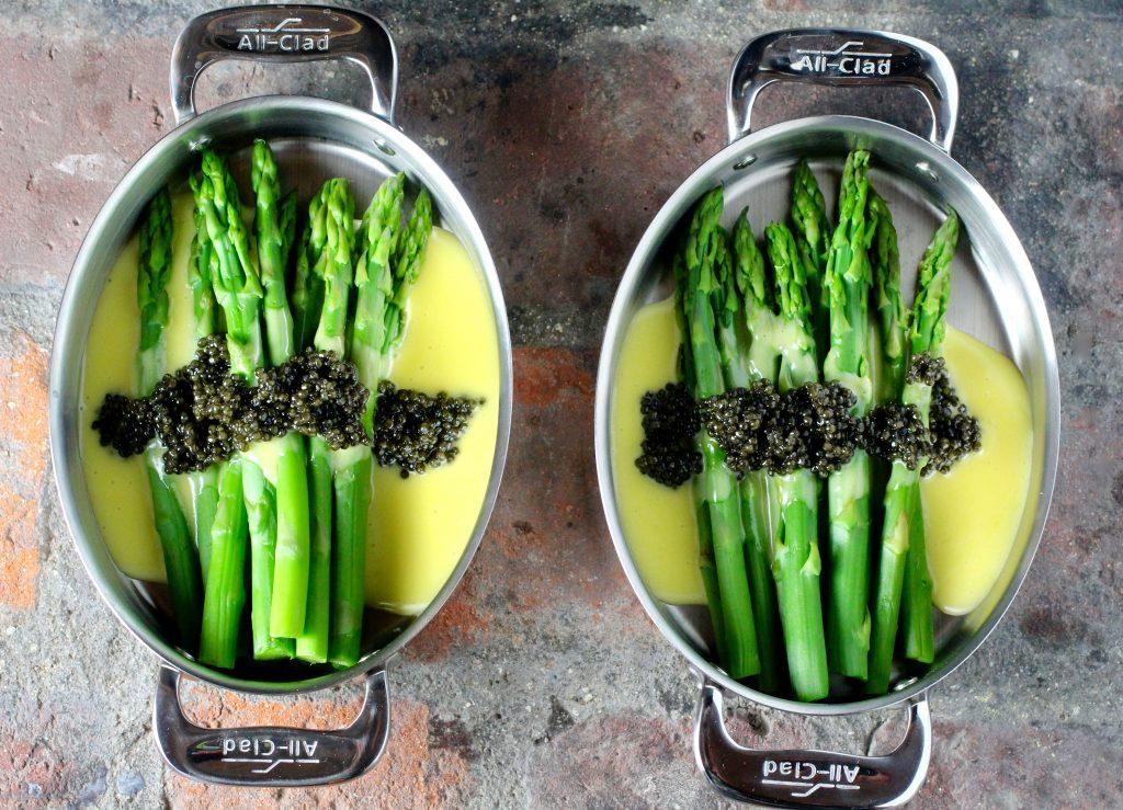Asparagus, Hollandaise, Caviar