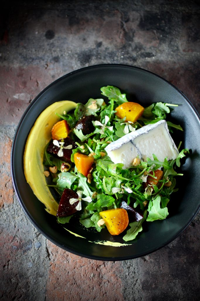 California Beet and Goat Cheese Salad