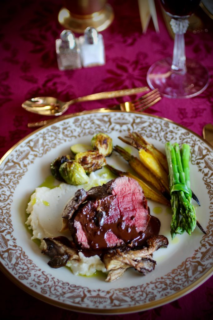 Inaugural Luncheon Angus Beef with Dark Chocolate Juniper Jus