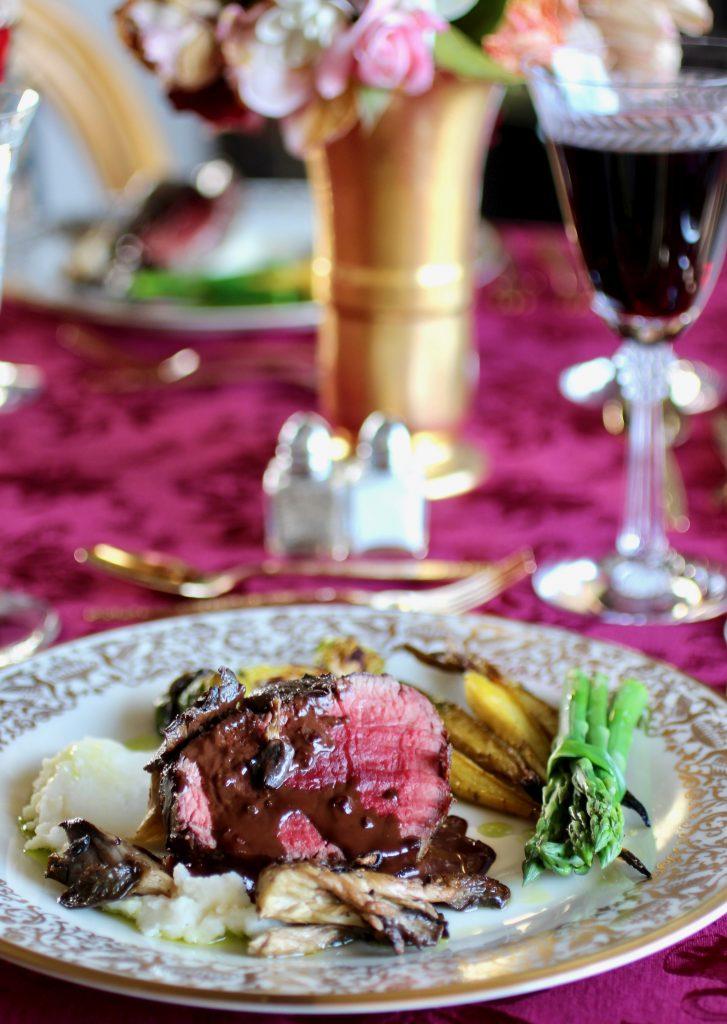 Inaugural Luncheon Angus Beef with Dark Chocolate Juniper Jus