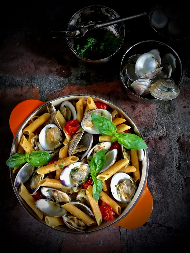 Penne with Clams