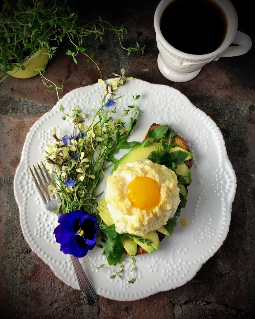 Cloud Egg Avocado Toast with Wild Arugula
