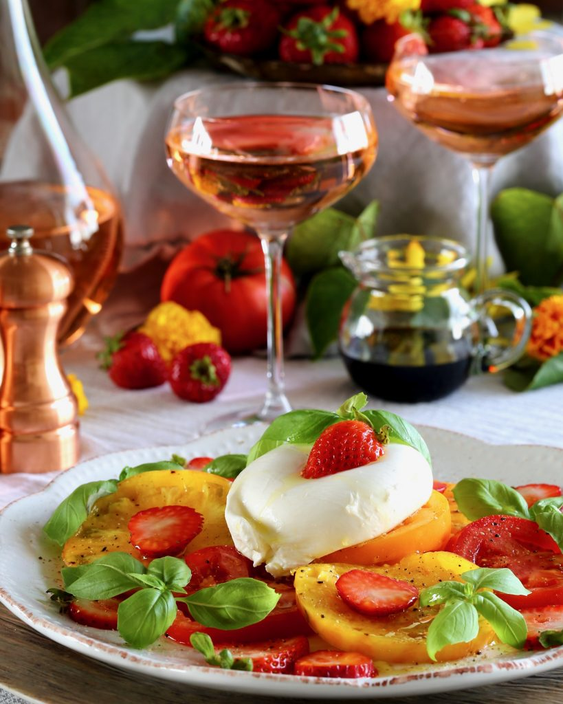 Strawberry Caprese Salad with Burrata