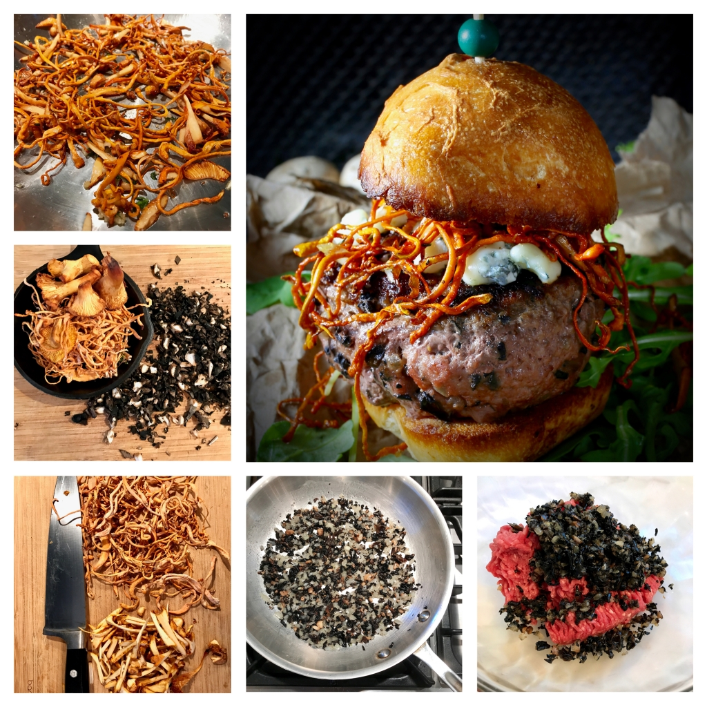 5 Mushroom Cheeseburger