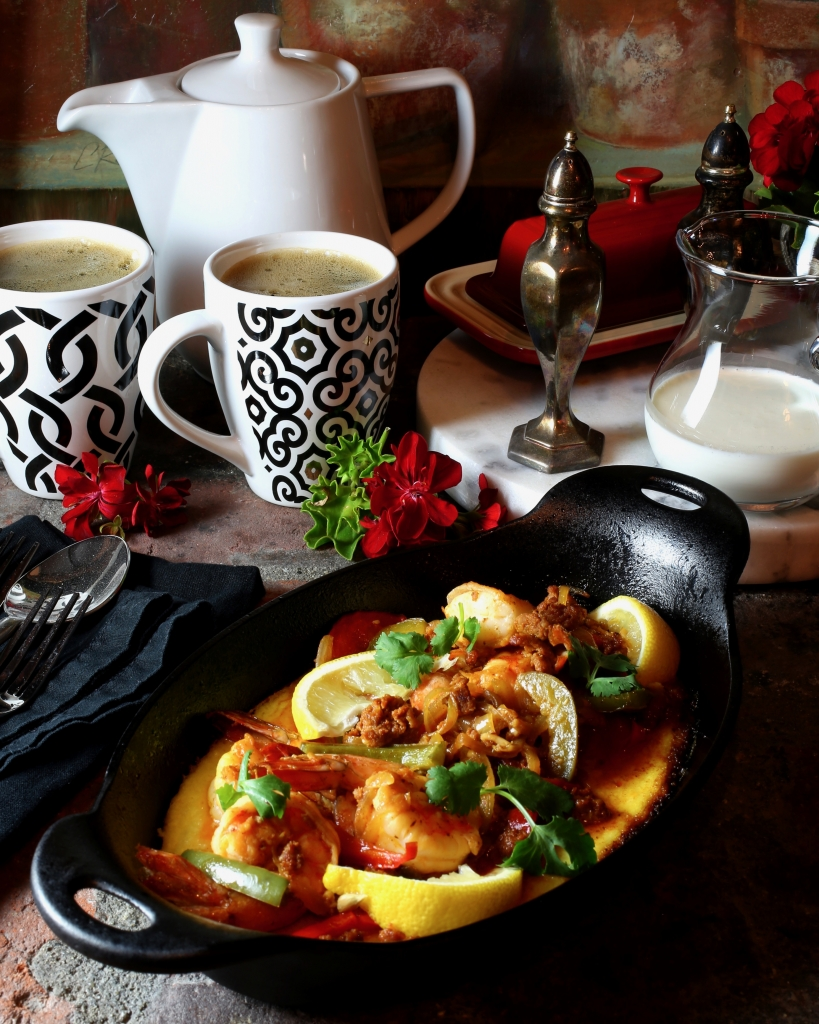 Shrimp and Grits with Chorizo