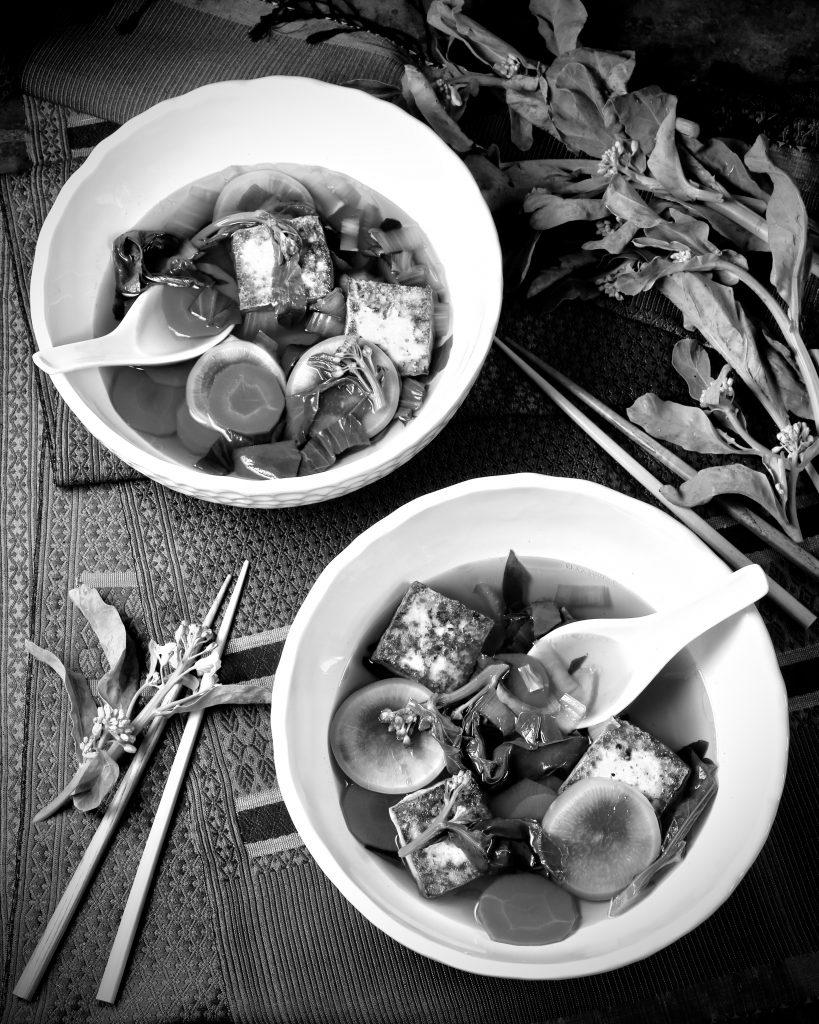 Veggie Broth, Crispy Tofu, Gai Lan