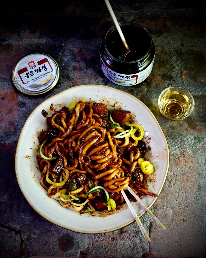 Jajangmyeon (Korean Black Bean Noodles)