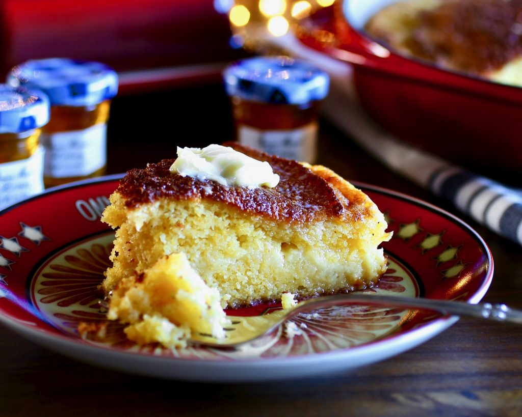 Custardy Cornbread with Honey Butter