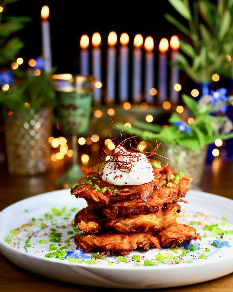 Kimchi Potato Latkes