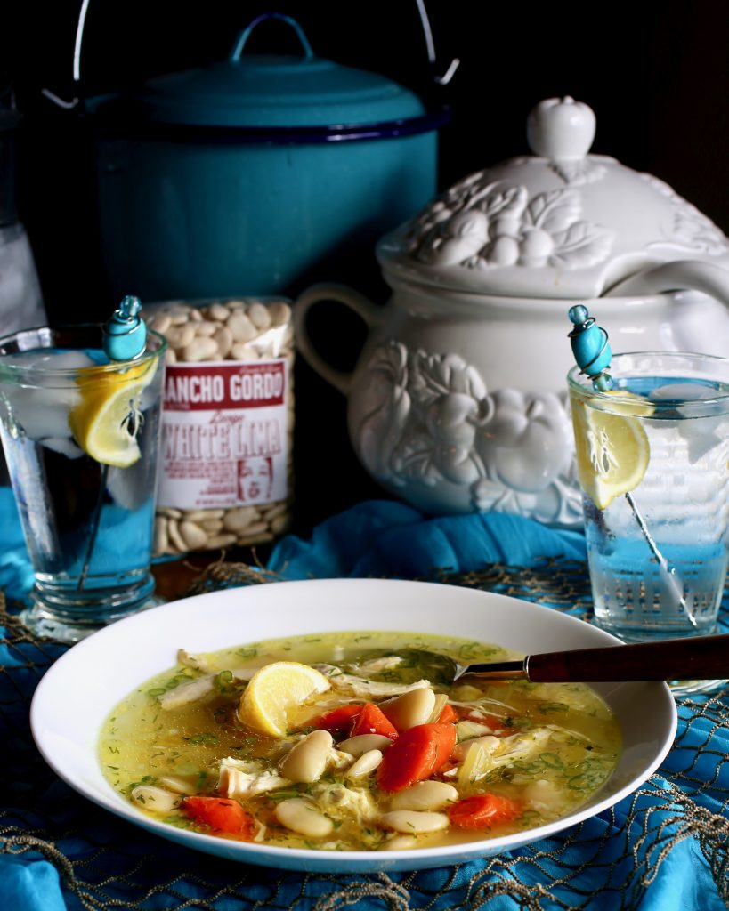 Chicken Soup with Lima Beans