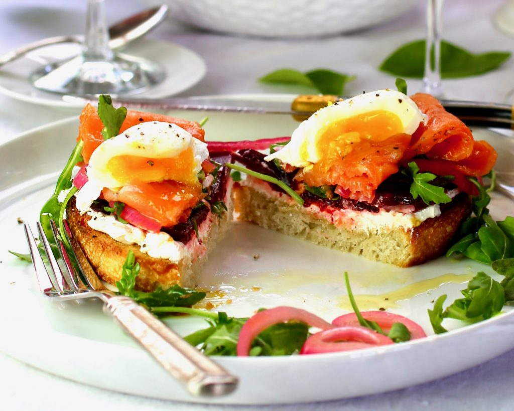 Norwegian Smoked Salmon Toast