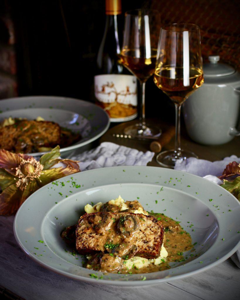 Vegetarian Meatloaf, Mushroom Gravy
