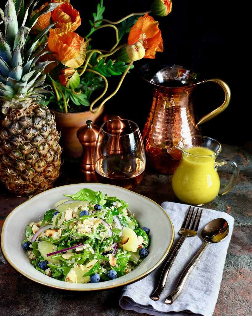 Quinoa Salad with Pineapple Vinaigrette