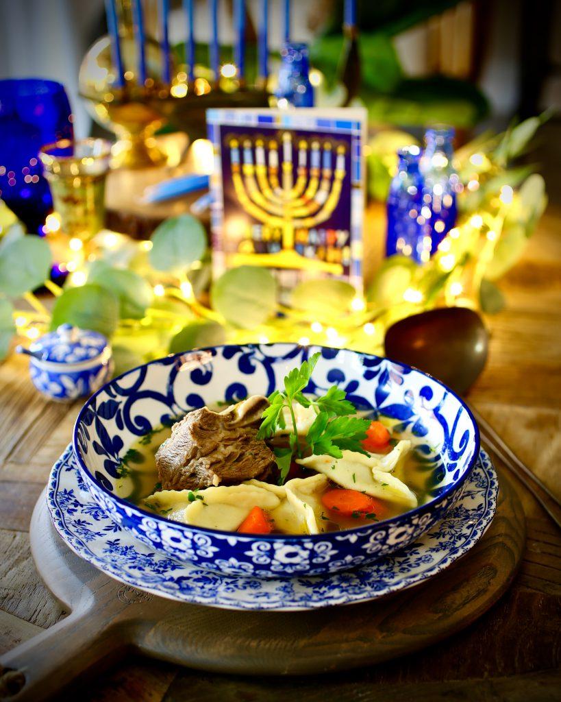 Short Rib Kreplach and Nana's Meat Soup