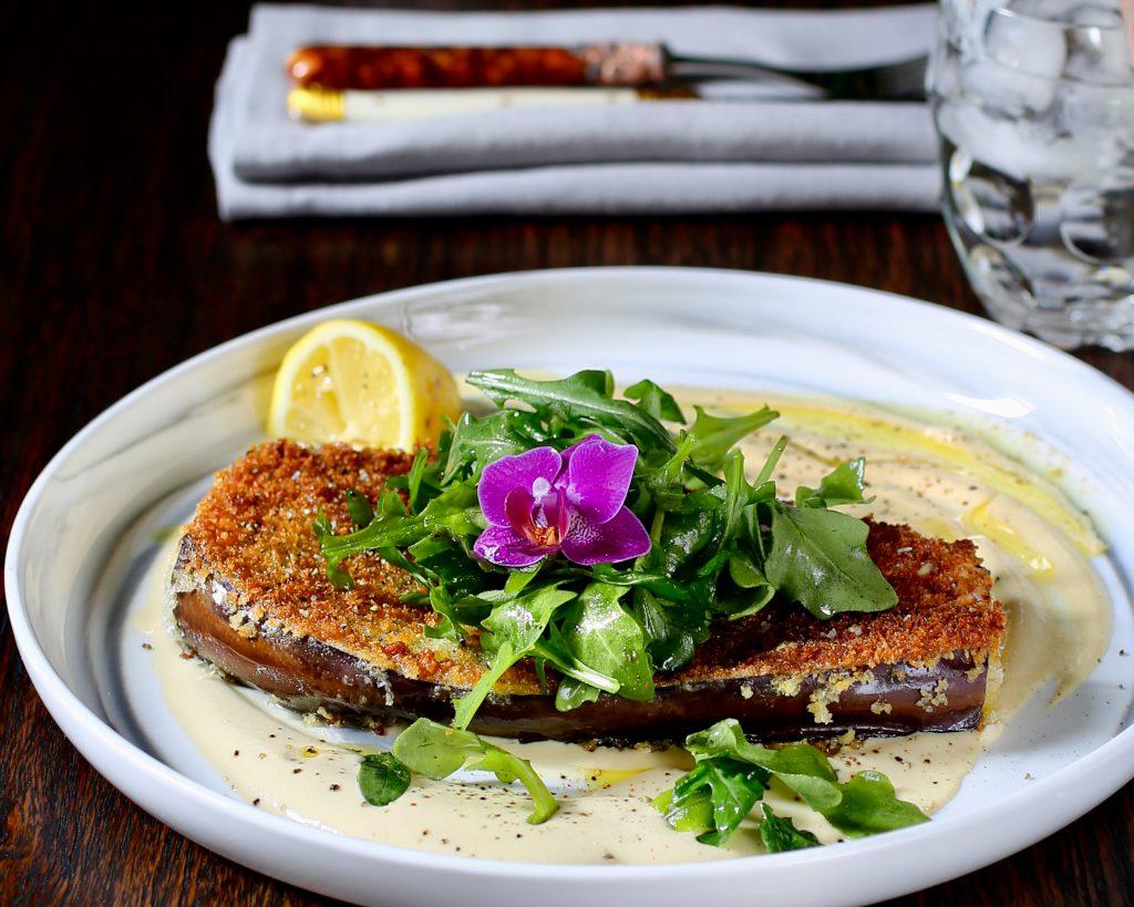 Eggplant Steaks, Restaurant Style