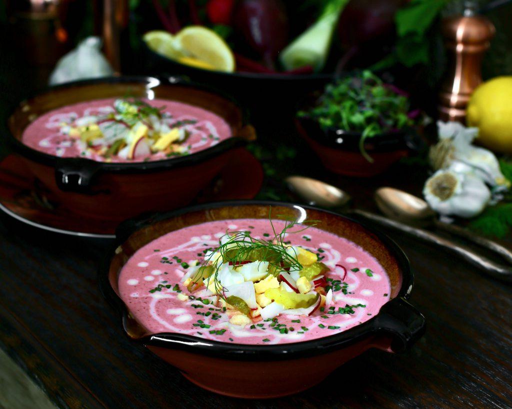 Cold Russian Beet Soup aka Holodnik