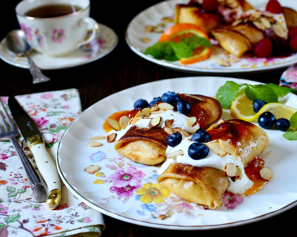 Farmer Cheese Blintzes