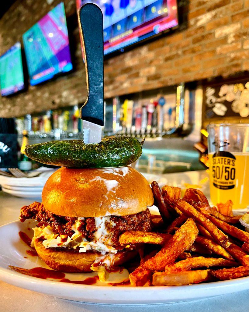 Slater's 50/50 Nashville Screamin' Hot Chicken Sandwich