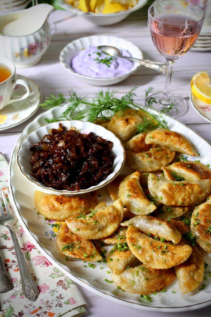 pierogi with caramelized onions