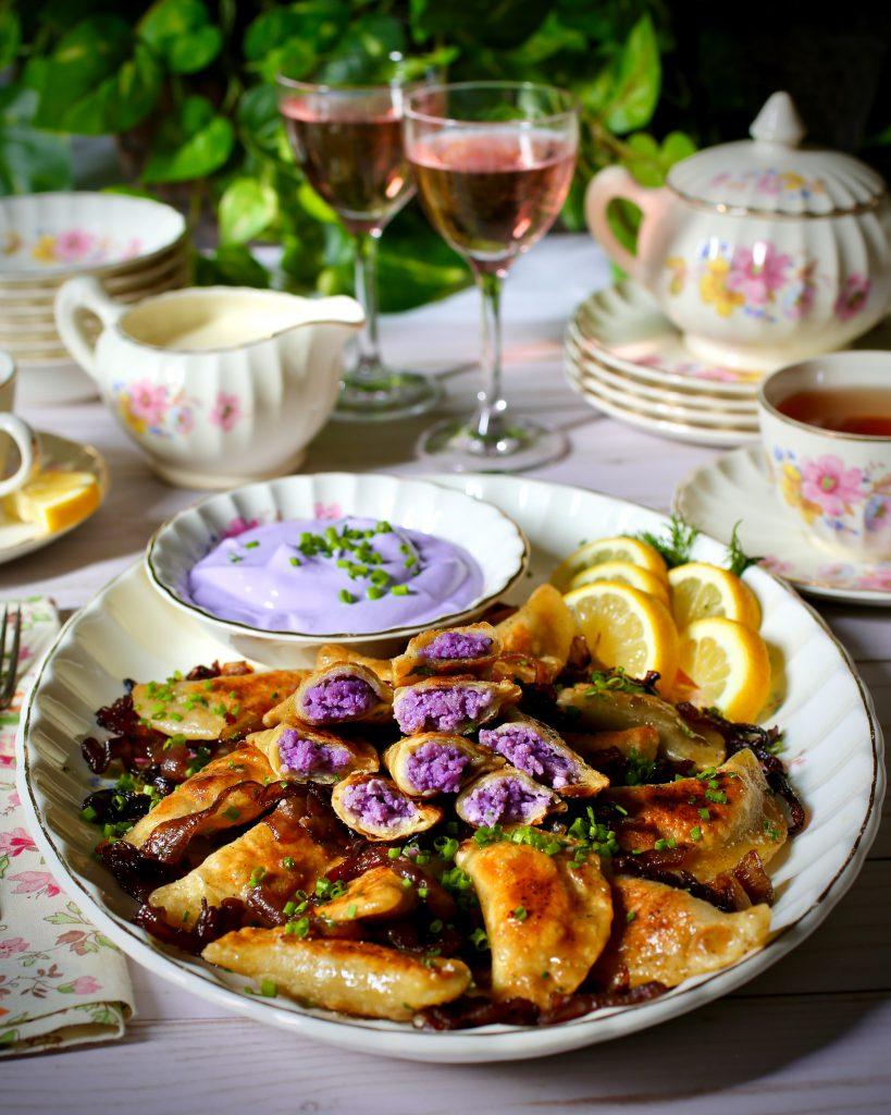 Purple Pierogi Ruskie