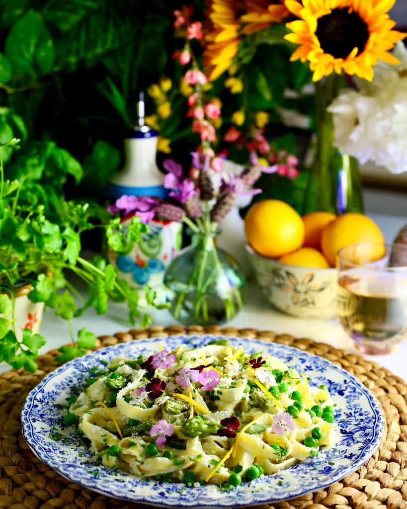 Springtime Pasta with Asparagus and Peas