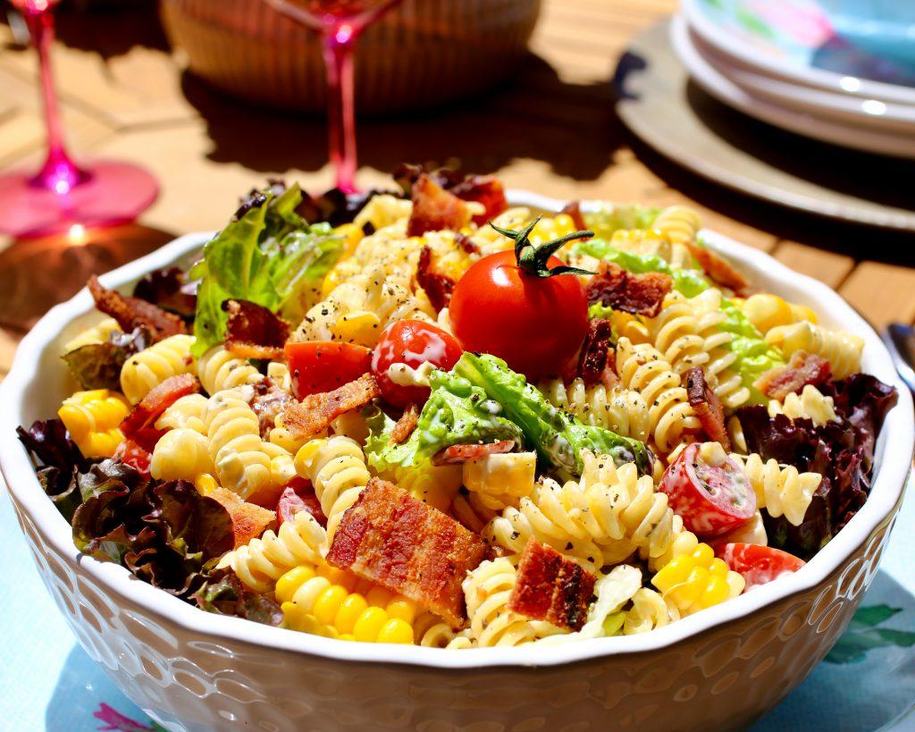 BLT Pasta Salad with Fresh Corn