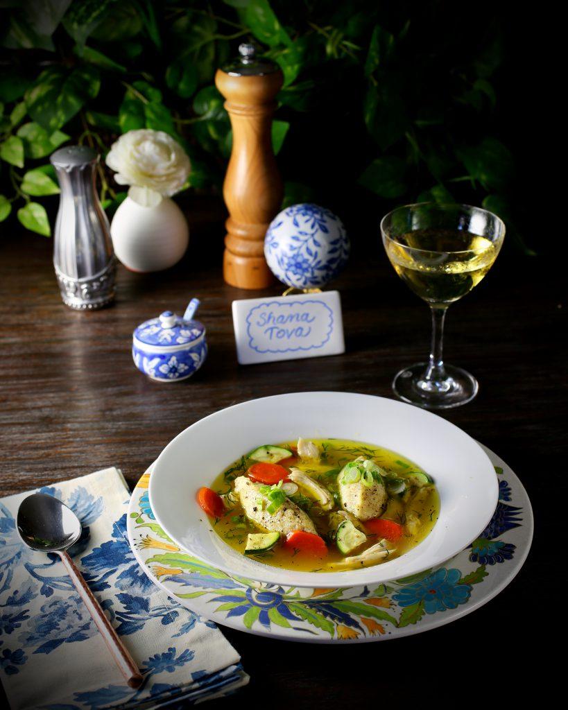 Chicken Soup with Hungarian Farina Dumplings