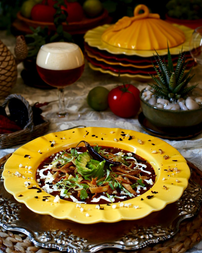 Tortilla Soup with Pasilla Chile