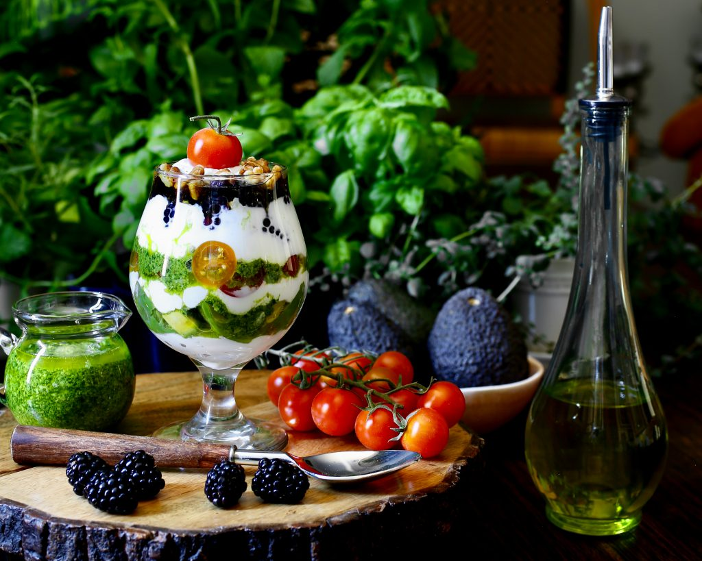 Savory Greek Yogurt Parfait