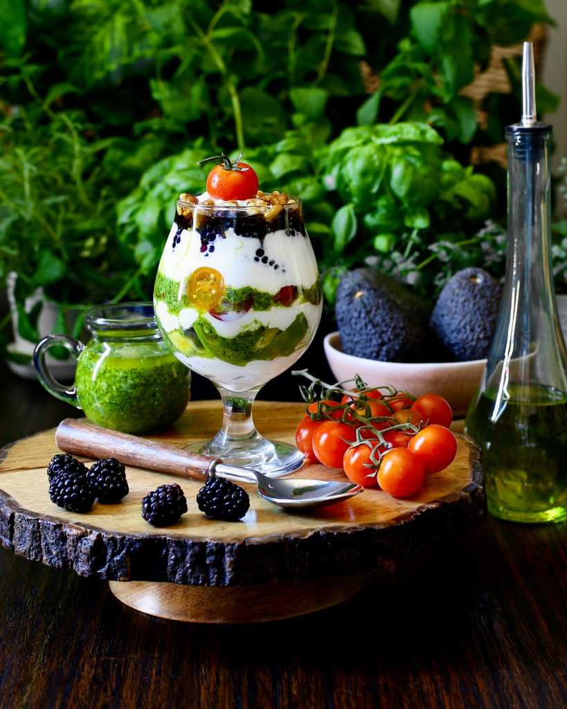 Savory Greek Yogurt Parfait